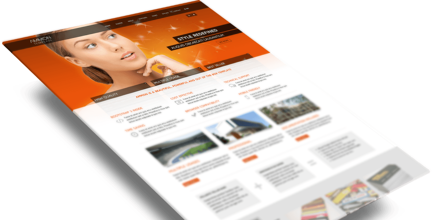 The amazing Ammon template for Joomla