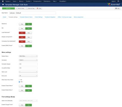 Ammon template for Joomla - EASY TO USE