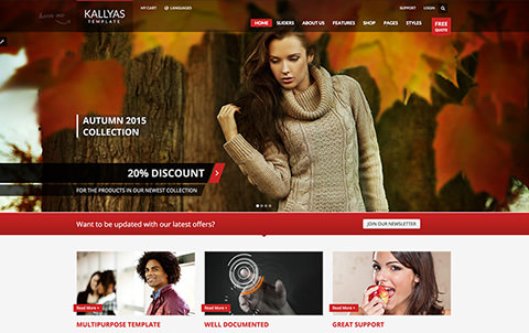 Kallyas Template Homepage Screenshot