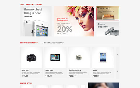 Kallyas Template Shop page Screenshot